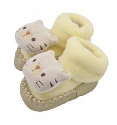 Babucha para bebé diseño tigre - Amarillo