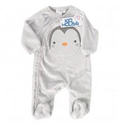 Pijama para bebé niño - Gris pinguino