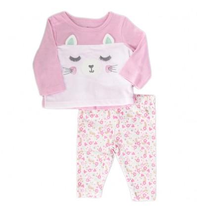 Conjunto 2 piezas para bebé niña - Rosa
