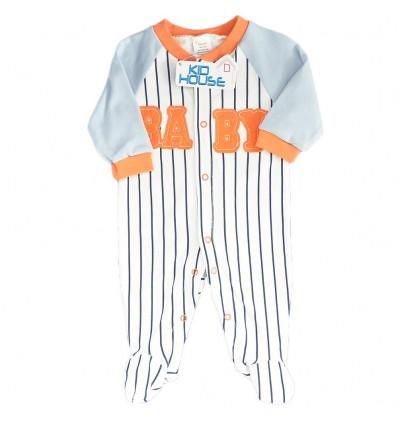 Pijama enteriza para bebé niño Rayas