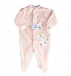 Pijama enteriza para bebé niña- Rosa Catica
