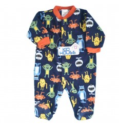 Pijama enteriza para bebé niño moster