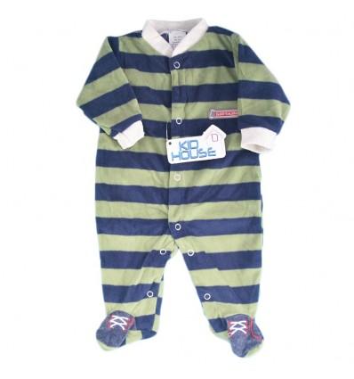 Pijama enteriza para bebé niño- Rayas