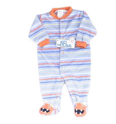Pijama enteriza para bebé niño - Azul lineas