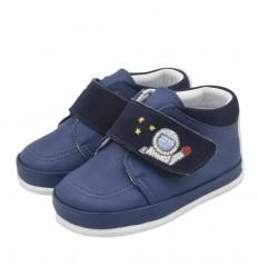 Zapato no tuerce para niño- Azul astronauta