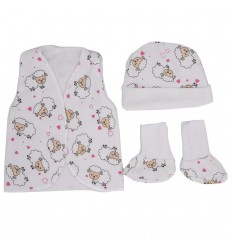 Set de ropa UCI para bebé prematura- ovejitas