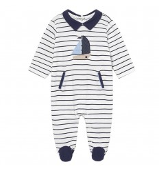 pijama enteriza para bebé niño- Rayas barco