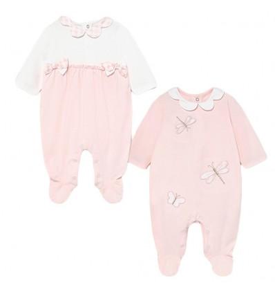 Set de 2 pijamas para bebé niña - Rosa